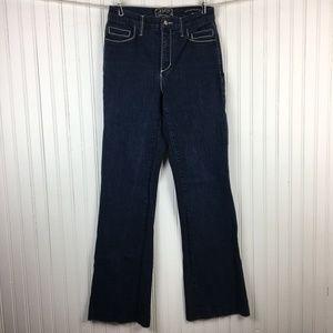 NYDJ Flare Leg Dark Wash Plain Pocket Jeans Size 4